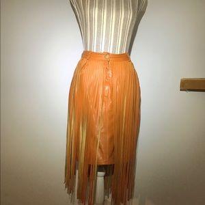 Leather Costume Skirt